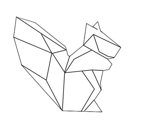 Washi Paper Motif Unicorn geometric geometrique squirrel 233 cureuil inspiration