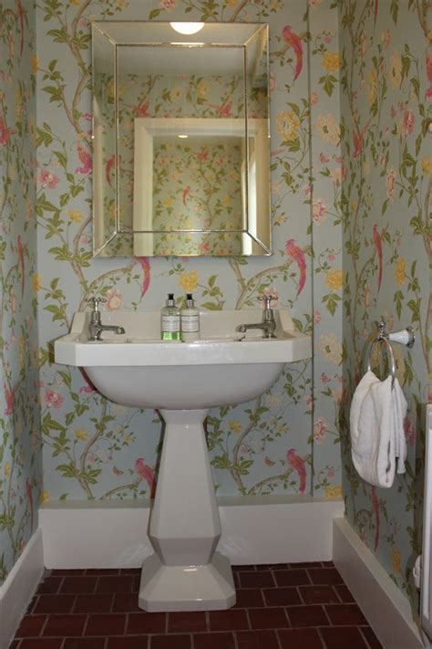 pinterest wallpaper for bathrooms cloakroom with floral wallpaper bathroom stuff