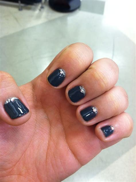 nail colours for short nails dark gray gel color never thought my short nails could