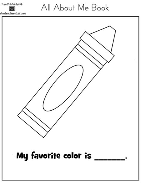 what does my favorite color tell about me autism tank all about me book and worksheet