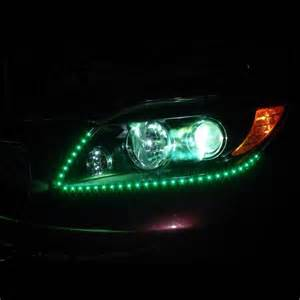 Led Light Strips For Cars Blue Led Headlight Strips Light Kit Strips Cars Trucks Vehicle Bright Glow New Ebay