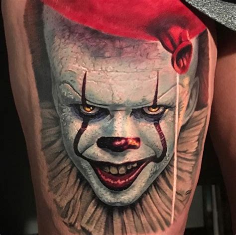 pennywise tattoo powerline tattoos evan olin pennywise the clown