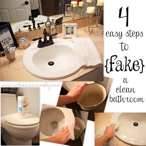 how to a clean bathroom by guest organizing
