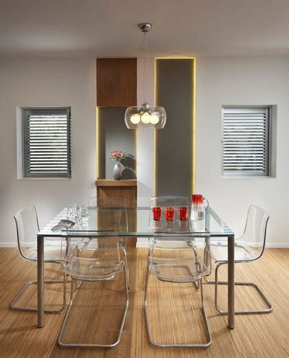 Modern Glass Dining Room Sets glass chairs and table modern dining room set home interiors