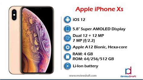 apple iphone xs price in bangladesh specification review draft