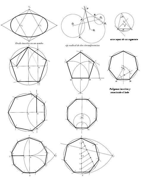 figuras geometricas utilizadas en el dibujo tecnico pol 237 gonos regulares dibujo t 233 cnico pinterest