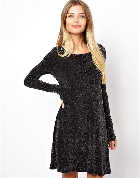 swing dress long sleeve vero moda vero moda long sleeve swing dress at asos