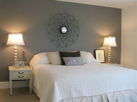 Headboard On Wall by Master Bedroom With Painted Wall Quot Headboard Quot Eclectic