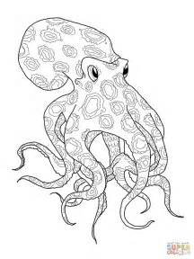 octopus coloring page blue ringed octopus coloring page free printable