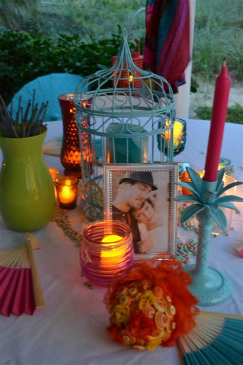 colorful beach weddings  st augustine fl