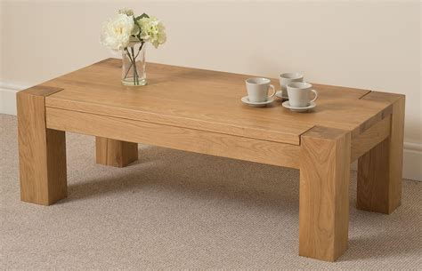 Solid Oak Coffee Table Kuba Oak Large Coffee Table Free Uk Delivery