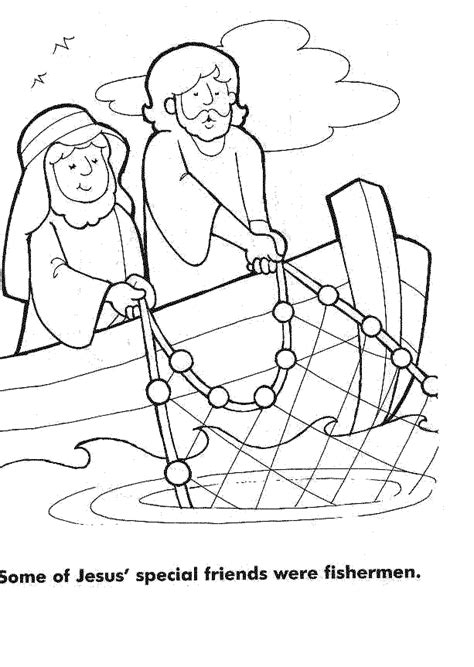 Jesus And The Fisherman Coloring Page bible puzzle