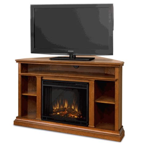 electric fireplace heater tv stand oak