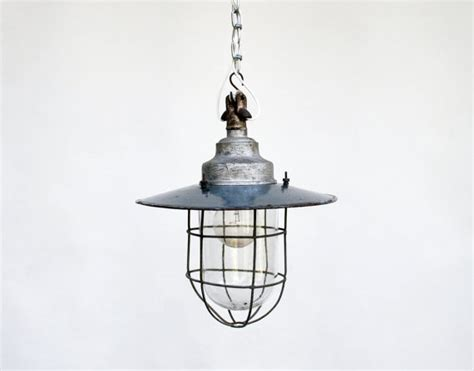 vintage industrial ceiling l light fixture enamel
