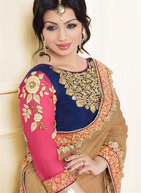 designer pics buy ayesha takia hot pink classic designer saree online