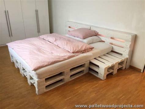 futon nachttisch repurposed wood pallet furniture projects pallet wood