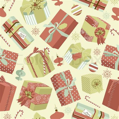 retro christmas pattern vector free retro christmas gift boxes seamless pattern stock