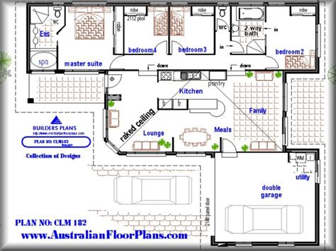 Pool House Plans With Bedroom 4 Bedroom House With Pool 4 Bedroom House Floor Plans 4 Bedroom Home Floor Plans Treesranch