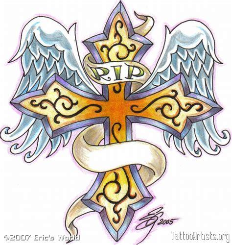 rip crosses tattoo designs rip cross drawings