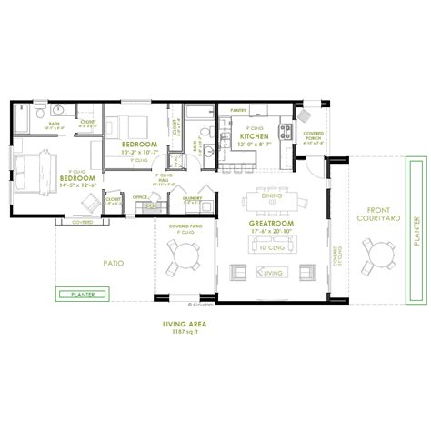Two Bedroom Home Design Modern 2 Bedroom House Plan Bedrooms Modern And House