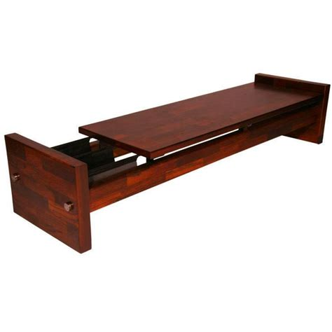 bench magazine rosewood bench or coffee table with magazine holder by