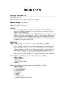Cv Template Uk Student The World S Catalog Of Ideas