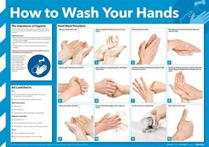 how to wash your hands poster seton uk