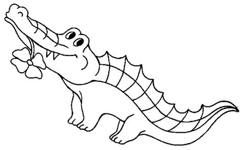 cartoon alligator coloring page free printable crocodile coloring pages for kids