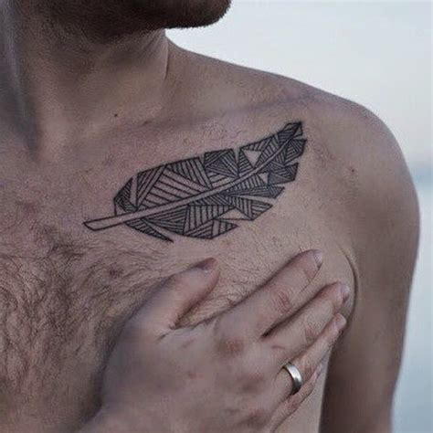 abstract tribal tattoo abstract gray ink tribal feather tattoos for on chest