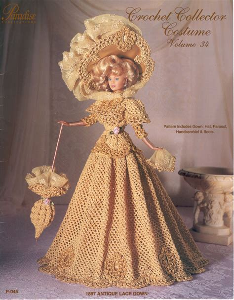 english vintage pattern pdf crochet barbie dress barbie gown crochet ebook pattern