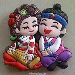 Magnet Kulkas Clay Korea Sepasang jual souvenir magnet kulkas pasangan korea d