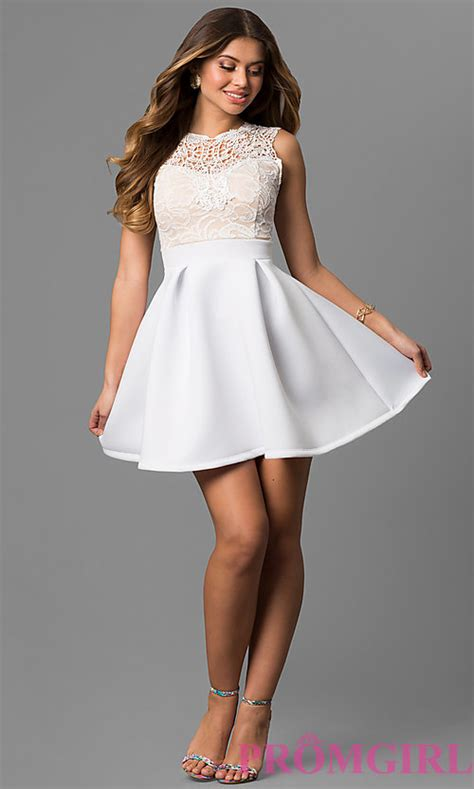 Black White Show Me Dress 25044 lace bodice graduation dress promgirl