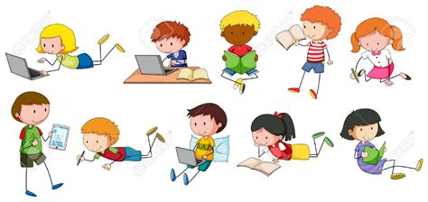 children clipart children reading and writing clip 101 clip