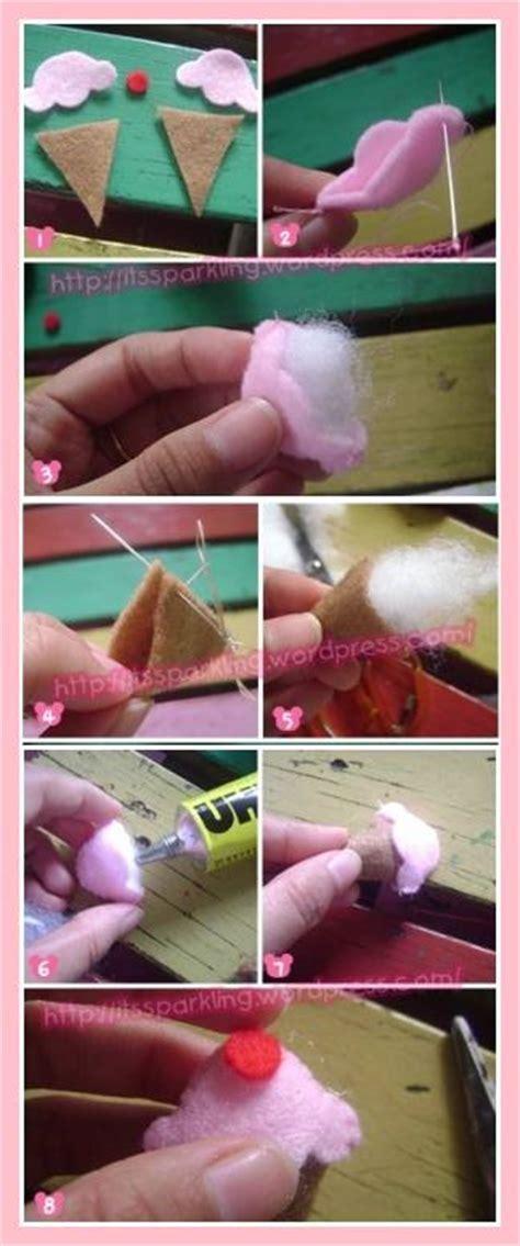 membuat bros  kain flanel kerajinan carapedia