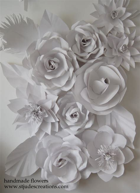 How To Make Paper Flowers Wedding - wedding backdrop flowers handmade paper flowers by