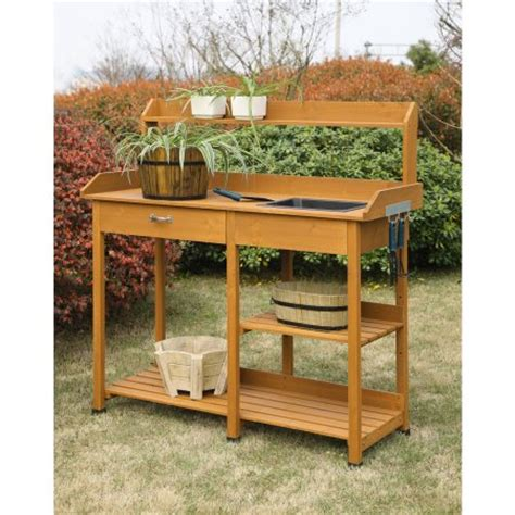 cheap potting bench convenience concepts planters and potts deluxe potting