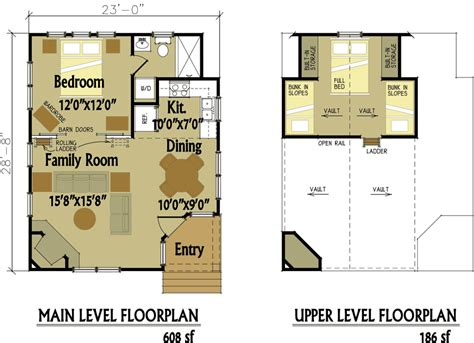 cottage floorplans small cabin designs with loft small cabin floor plans