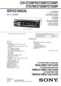 sony cdx and cdx gt250mp wiring diagram techunick biz