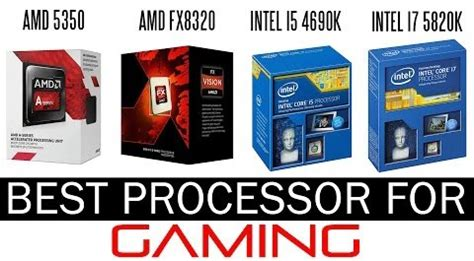 best cpus for gaming in 2016 from amazon, amd vs intel