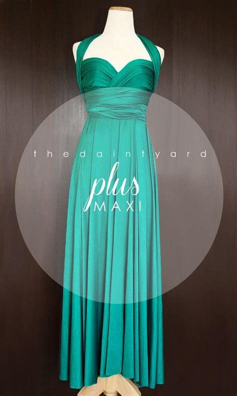 infinity dress teal wedding bridesmaid wrap convertible maxi plus size teal green bridesmaid dress convertible