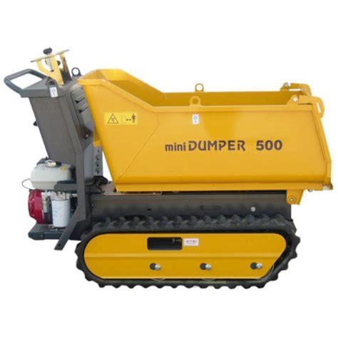 mini dumper fiori transporteur dumper sur chenilles dumpy 500 honda gx160
