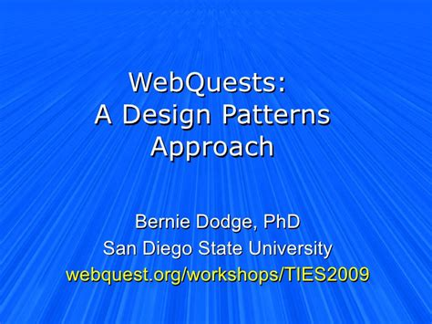 pattern energy san diego webquests a design pattern approach