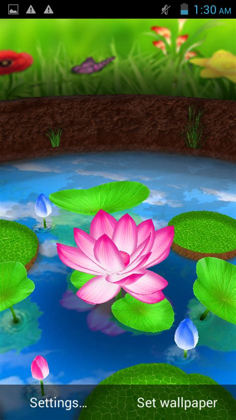 wallpaper 3d lotus lotus 3d live wallpaper android apps on google play