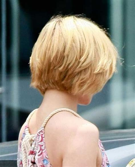 back and side view of short layered hairstyles short layered hairstyles back view short layered bob