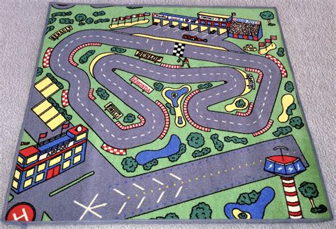 race car floor rug for purpletoyshop