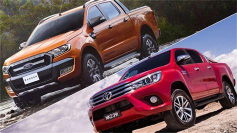 Ford Toyota Review 2016 Ford Ranger Wildtrak Vs 2016 Toyota Hilux Sr5