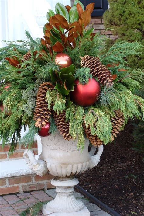 images of outdoor christmas urns black eyed susan set ups day 4 over the river and