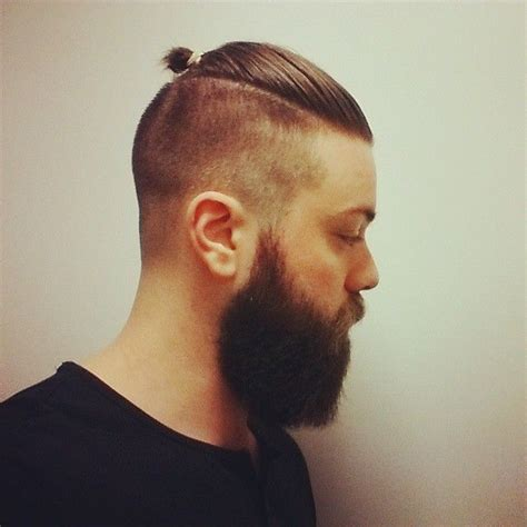 mens top knot man bun undercut hairstyle official guide with pictures