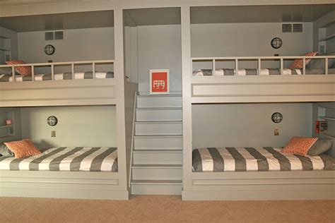 4 bunk beds in a room nautical wall sconces used in boy s bunkroom barnlightelectric