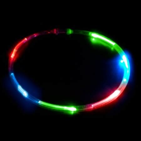 6 light led chaser necklace sureglow com